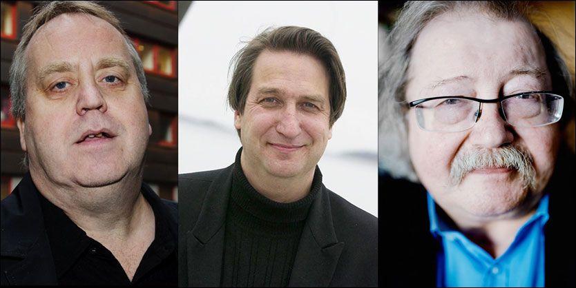 GIKK BORT: Tor Milde, Per Eirik Johansen og Jon Bing.