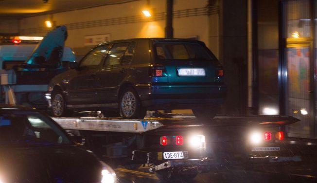 STOPPET PÅ GRENSEN: Denne bilen brukte de tre mennene da de ble stoppet på grensen mellom Frankrike og Belgia lørdag morgen.