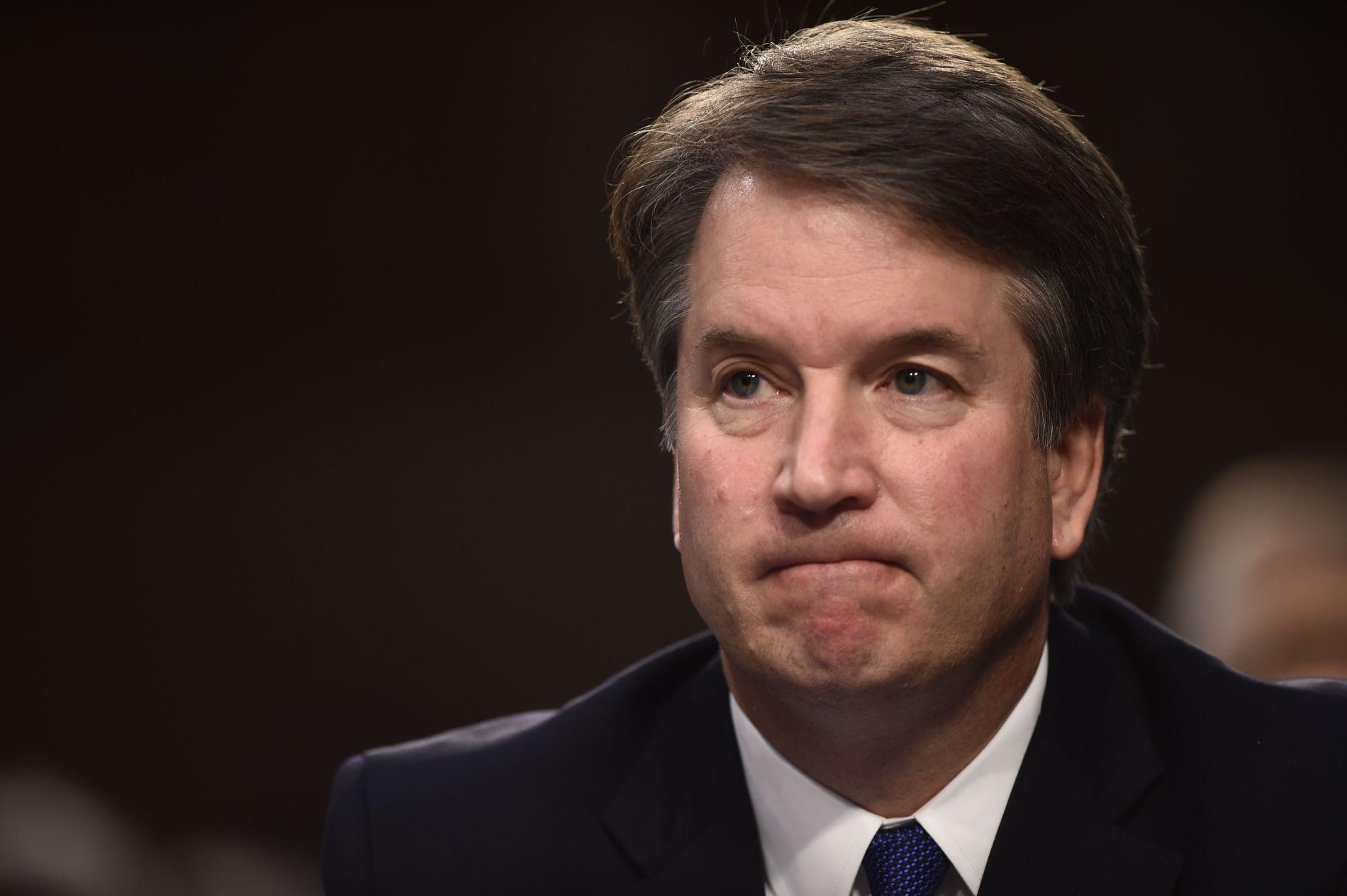 OMSTRIDT: Brett Kavanugh under den første høringen i forbindelse med at Donald Trump vil ha ham som høyesterettsdommer.