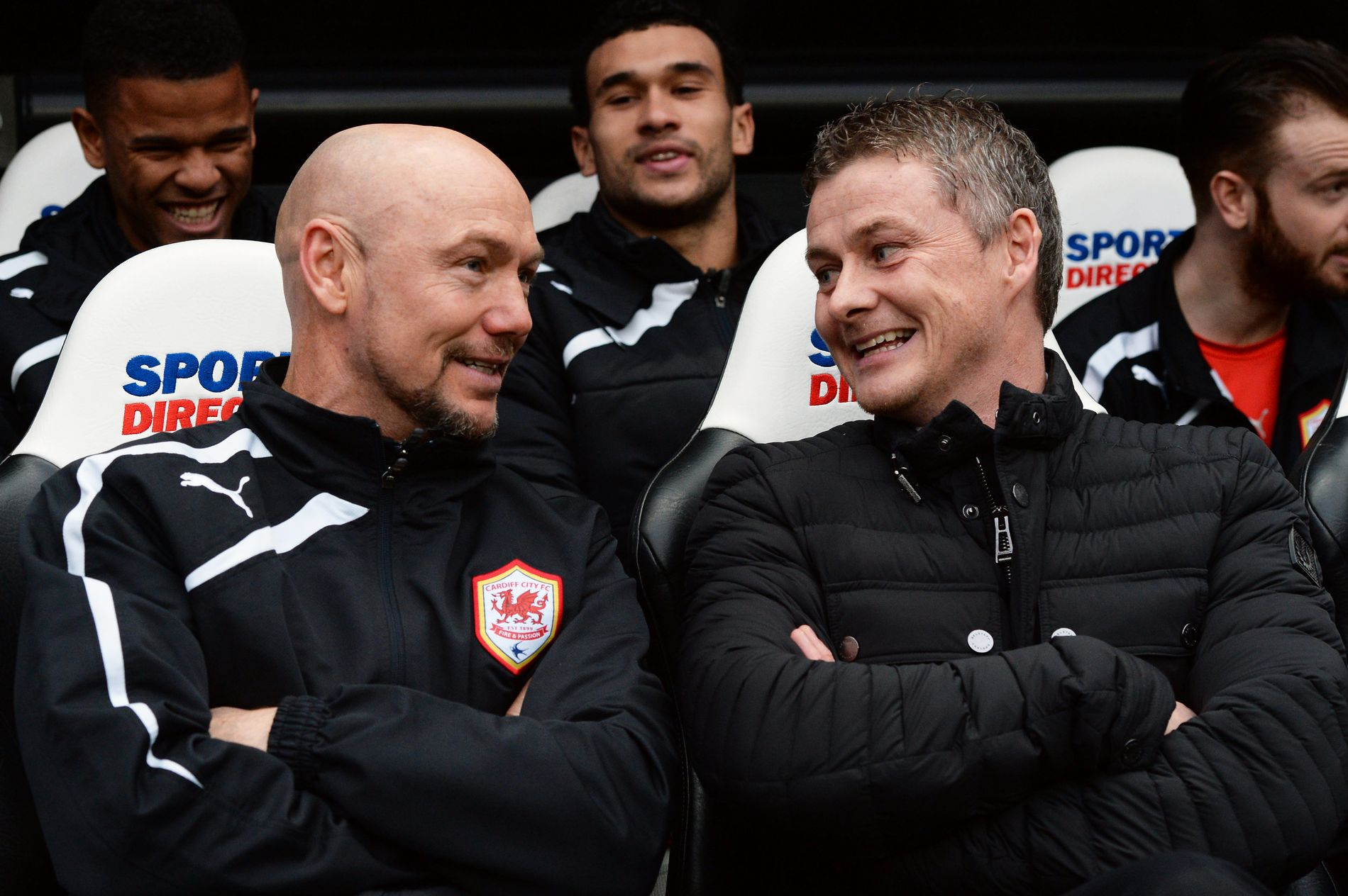 GODE VENNER: Ole Gunnar Solskjær og Mark Dempsey jobbet sammen også i Cardiff.