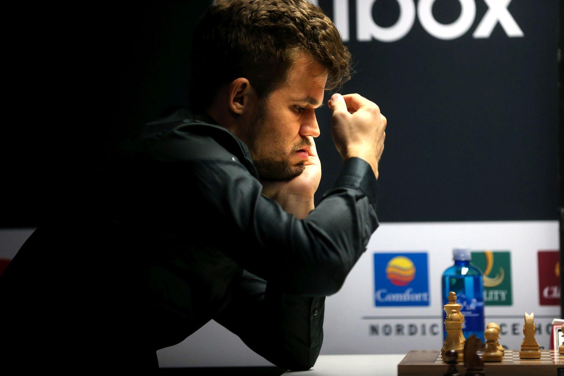 VERDENS BESTE: Magnus Carlsen er regjerende verdensmester i sjakk. Her fra Norway Chess i juni.