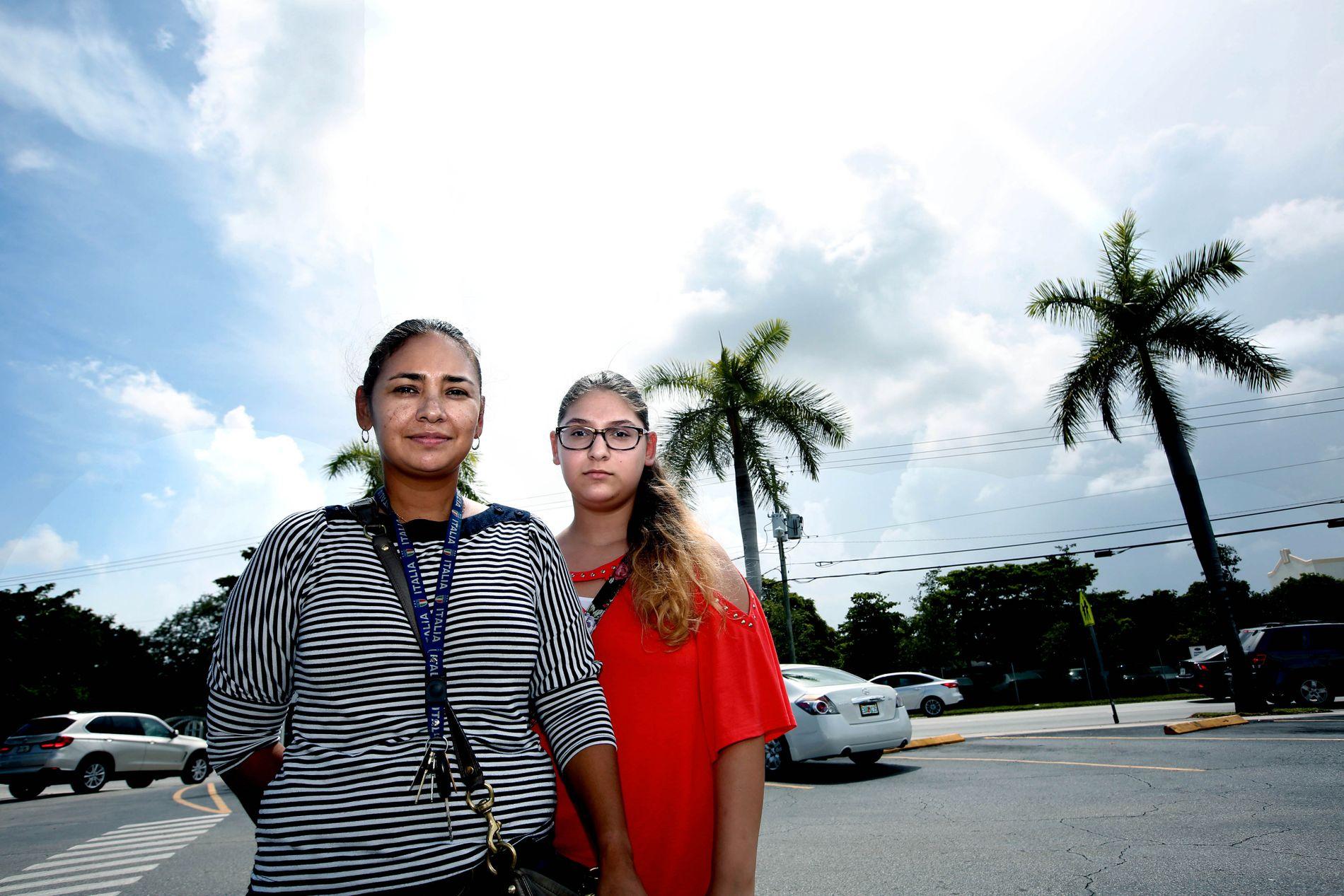 – SKREMMENDE: Dina Ucles (40) og hennes niese Samantah Hasty (14) forteller at det er skremmende å se hvordan viruset påvirker gravide kvinner.