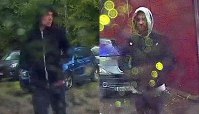 BER OM HJELP: Politiet etterlyser to ukjente menn med bilde etter at en person ble bortført på Ljan i Oslo sist torsdag.