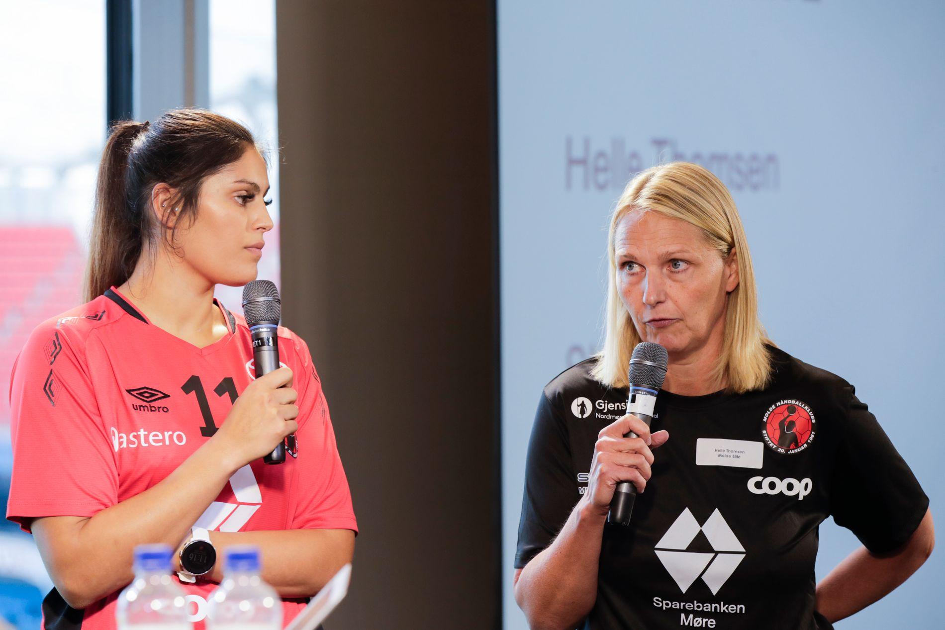 MOLDE-SJEFER: Kapteinen Sherin Obaidli og trener Helle Thomsen.