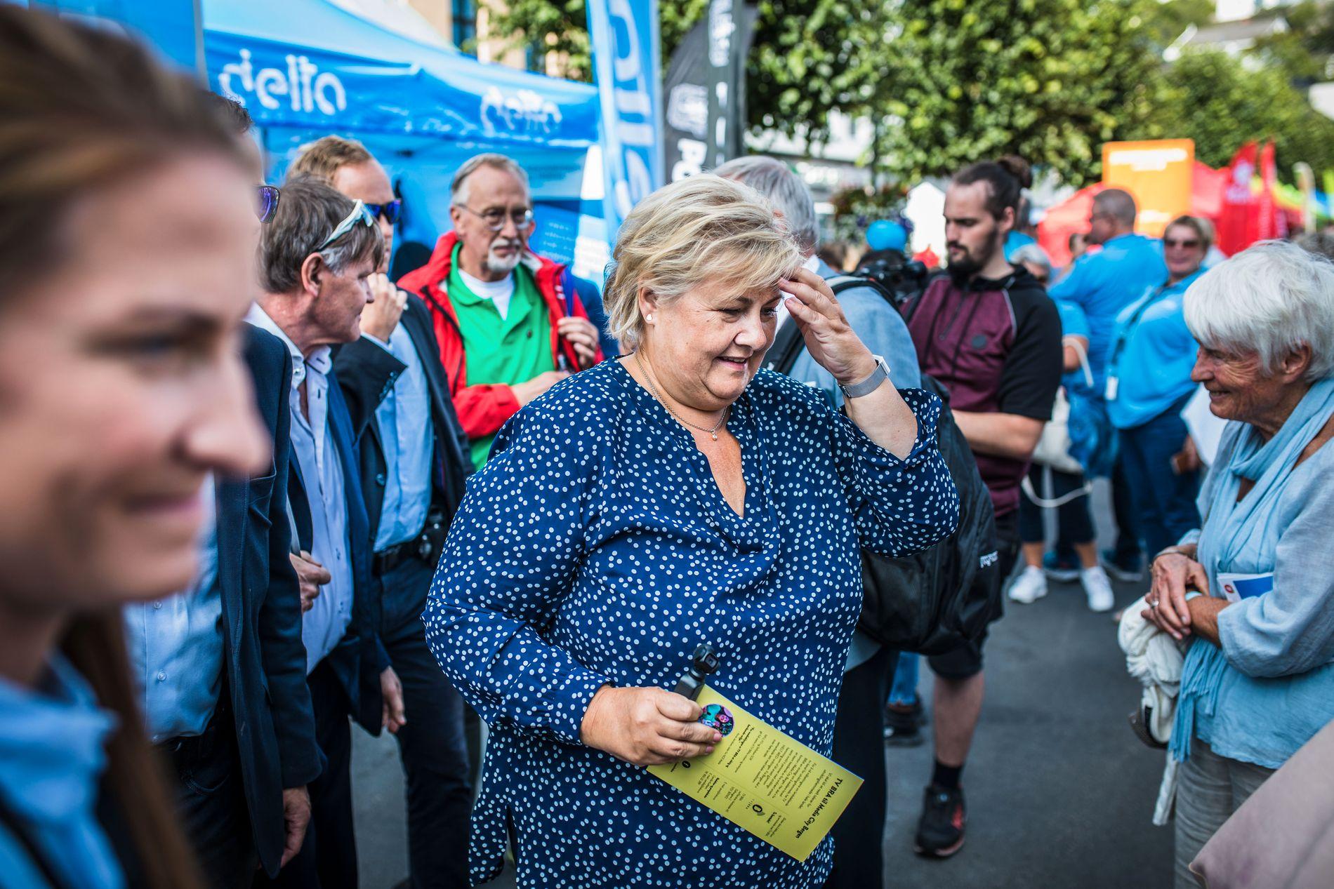 VIL IKKE KOMMENTERE: Statsminister Erna Solberg (H).