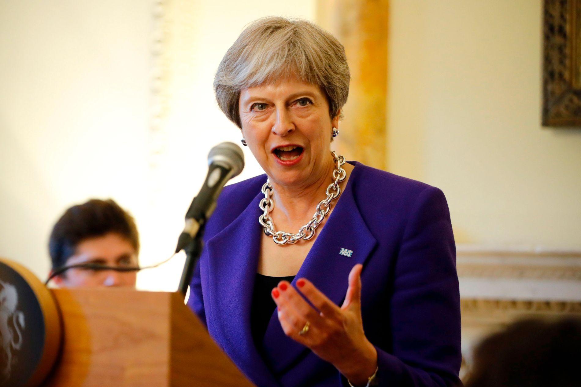PRESSET: Theresa May la frem sin brexit-plan for parlamentet mandag, men legger frem detaljene i en white paper senere i uken.