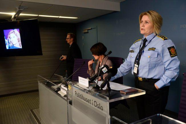 NYTT DRAP: Leder for Seksjon for volds- og seksualforbrytelser, Grete Lien Metlid, informerte om drapssaken på en pressekonferanse torsdag.