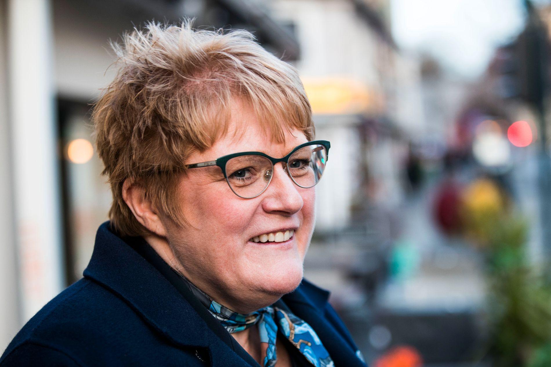 NEKTER: Da Trine Skei Grande i et intervju med Aftenposten 16. januar sa hun ikke er noen overgriper, kommenterte hun ikke hendelsen på bryllupet i Trøndelag i 2008.