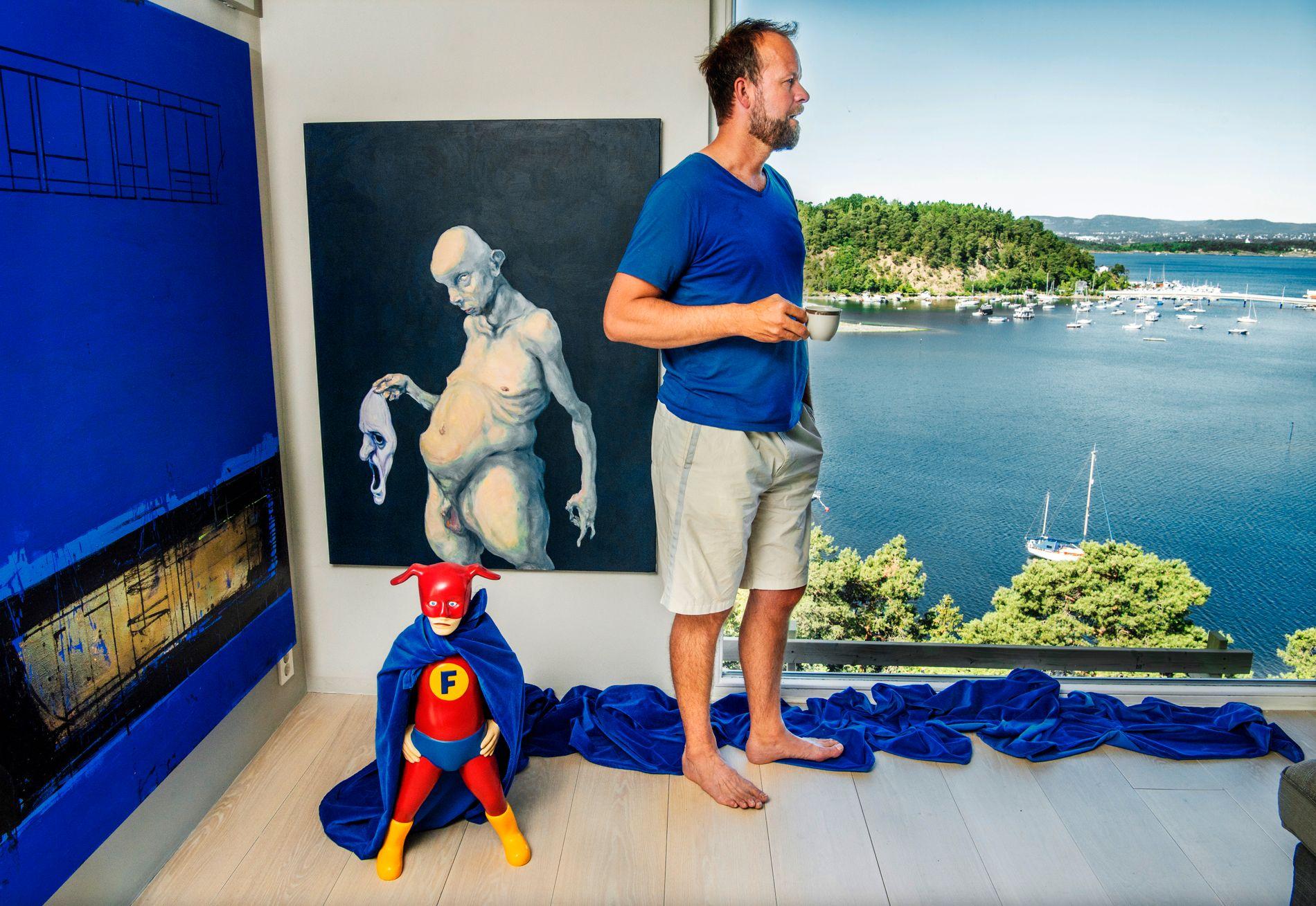 ET ROM MED UTSIKT: Thomas Myhre, hjemme på Ulvøya utenfor Oslo.
