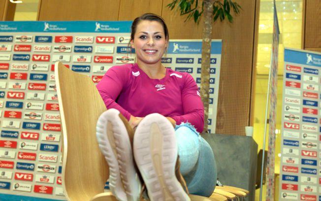 PÅ SAMLING: Nora Mørk er tatt ut i håndballjentenes EM-kvalifiseringstropp som møter Hviterussland og Litauen i oktober.