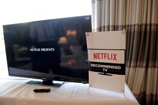Netflix TV SERTIFISERER: Netflix innleder nå samarbeid med LG og Sony for å bistå i utviklingen av TVer som er så brukervennlige som mulig for strømmetjenester. De som Netflix godkjennes vil merkes i butikkene med deres 'sertifisering». FOTO: Øyvind Gustavsen