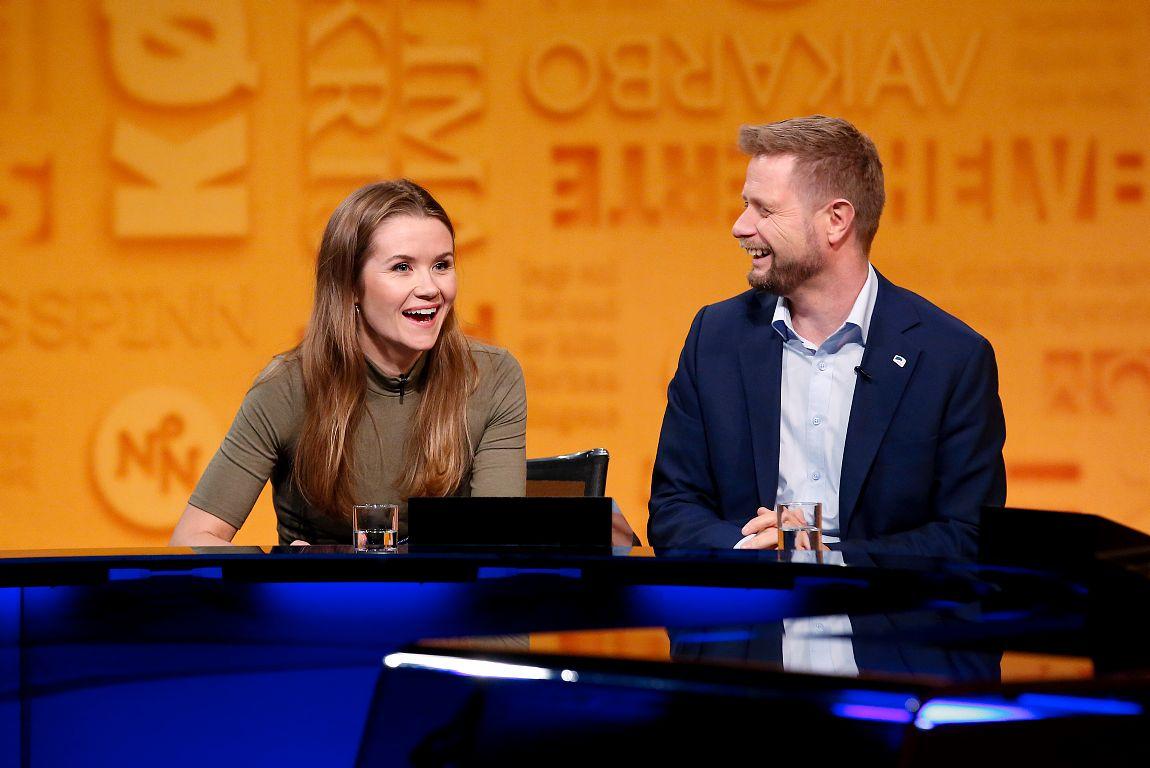 TEAM LIVE: Live Nelvik tar vare på, og samarbeider med helseminister Bent Høie i fredagens «Nytt på nytt»