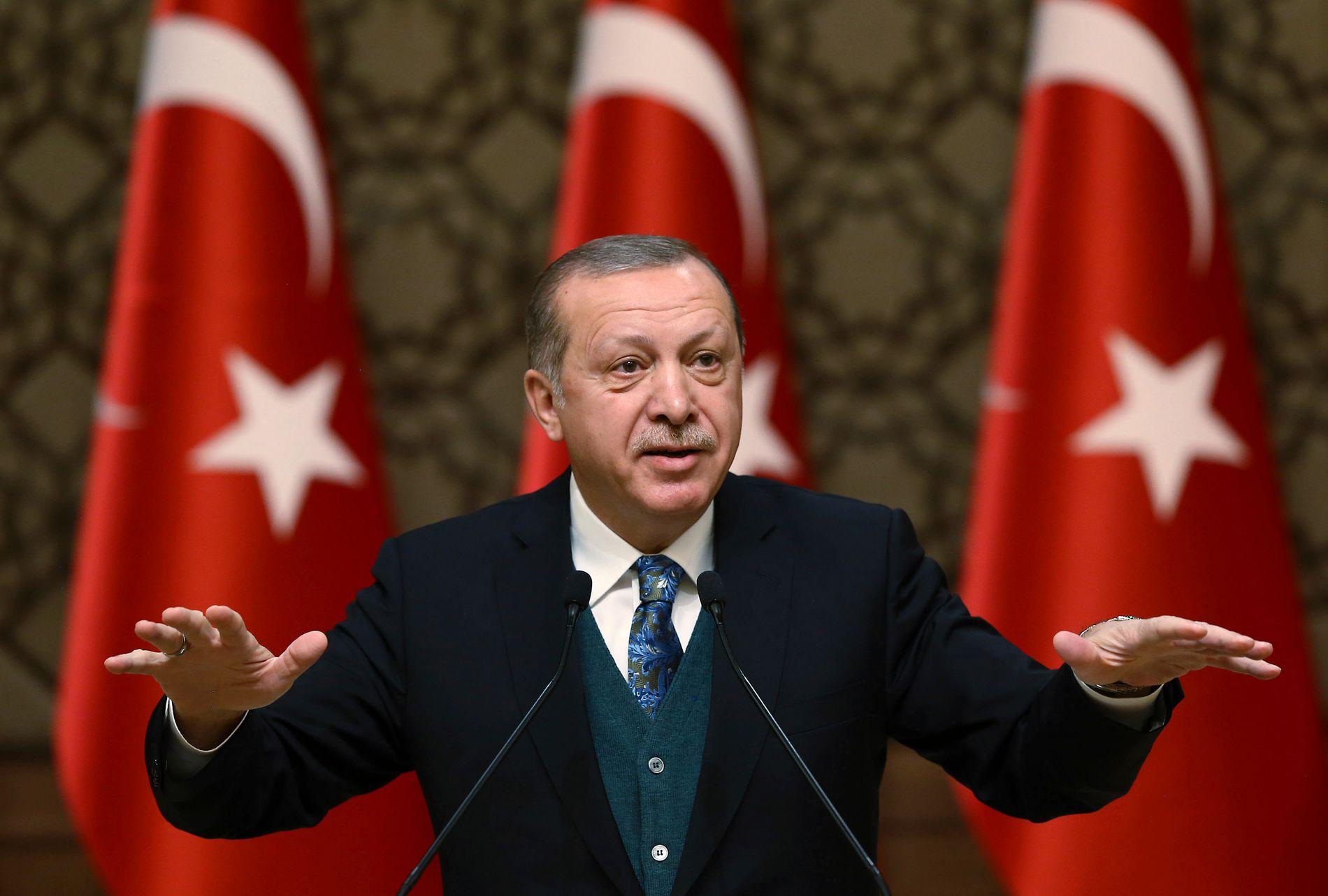 MEKTIG: President Recep Tayyip Erdogan har allerede stor makt, og dersom det blir nyvalg får han trolig enda mer. Men han har ikke bestemt seg ennå.