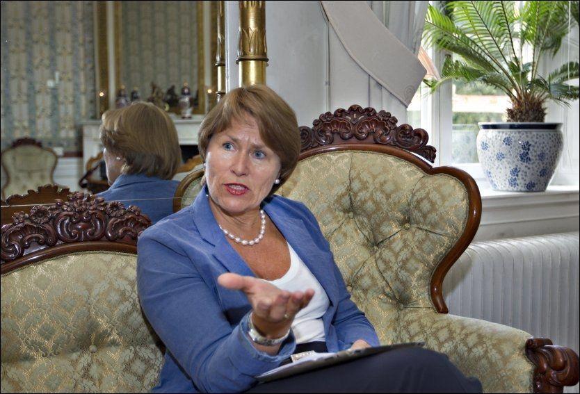 GODT GRUNNLAG: - En grunnleggende forutsetning for meg er et sterkere nærpoliti, sier Grete Faremo.