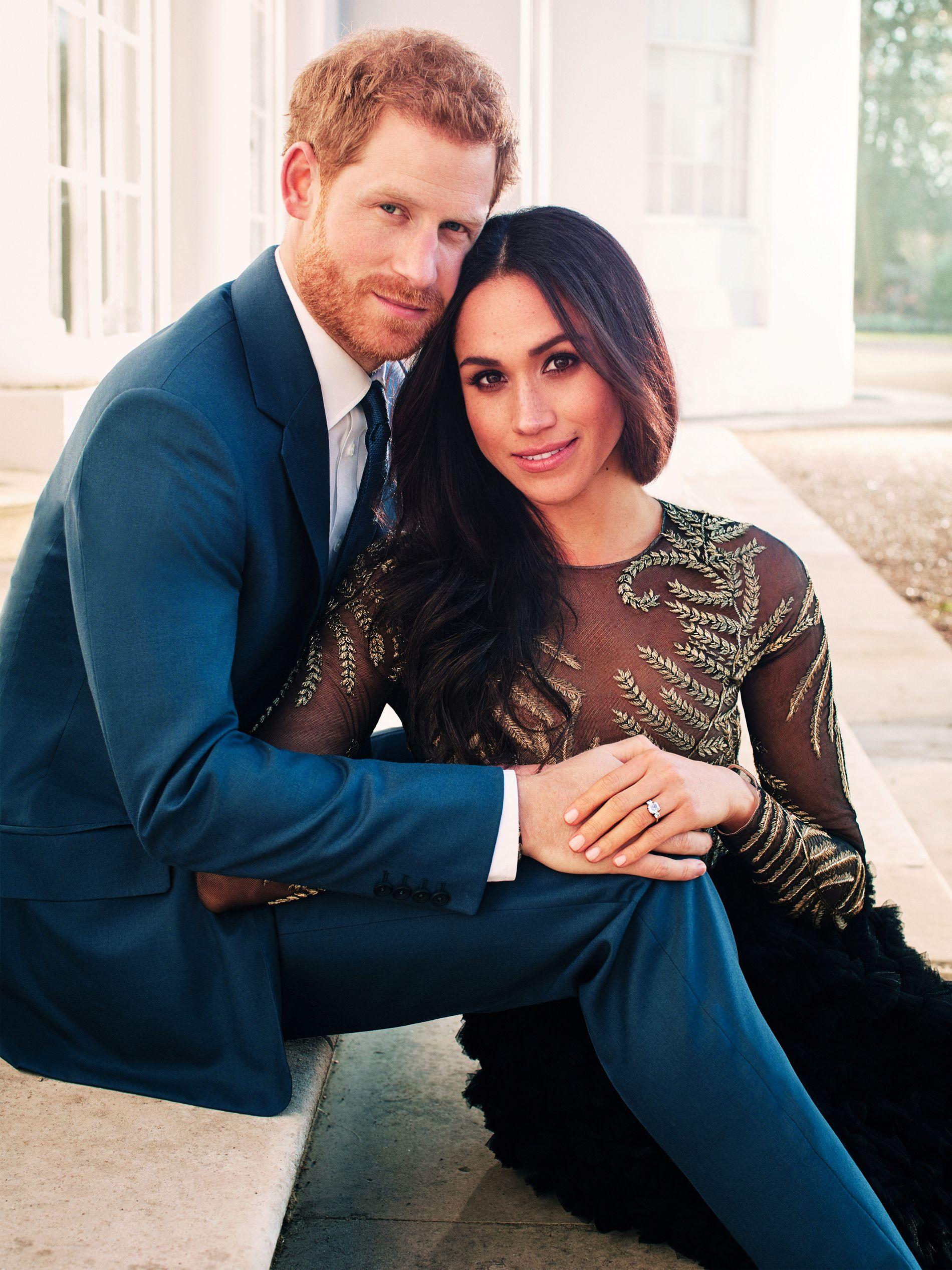 FORLOVET: Prins Harry og Meghan Markle.