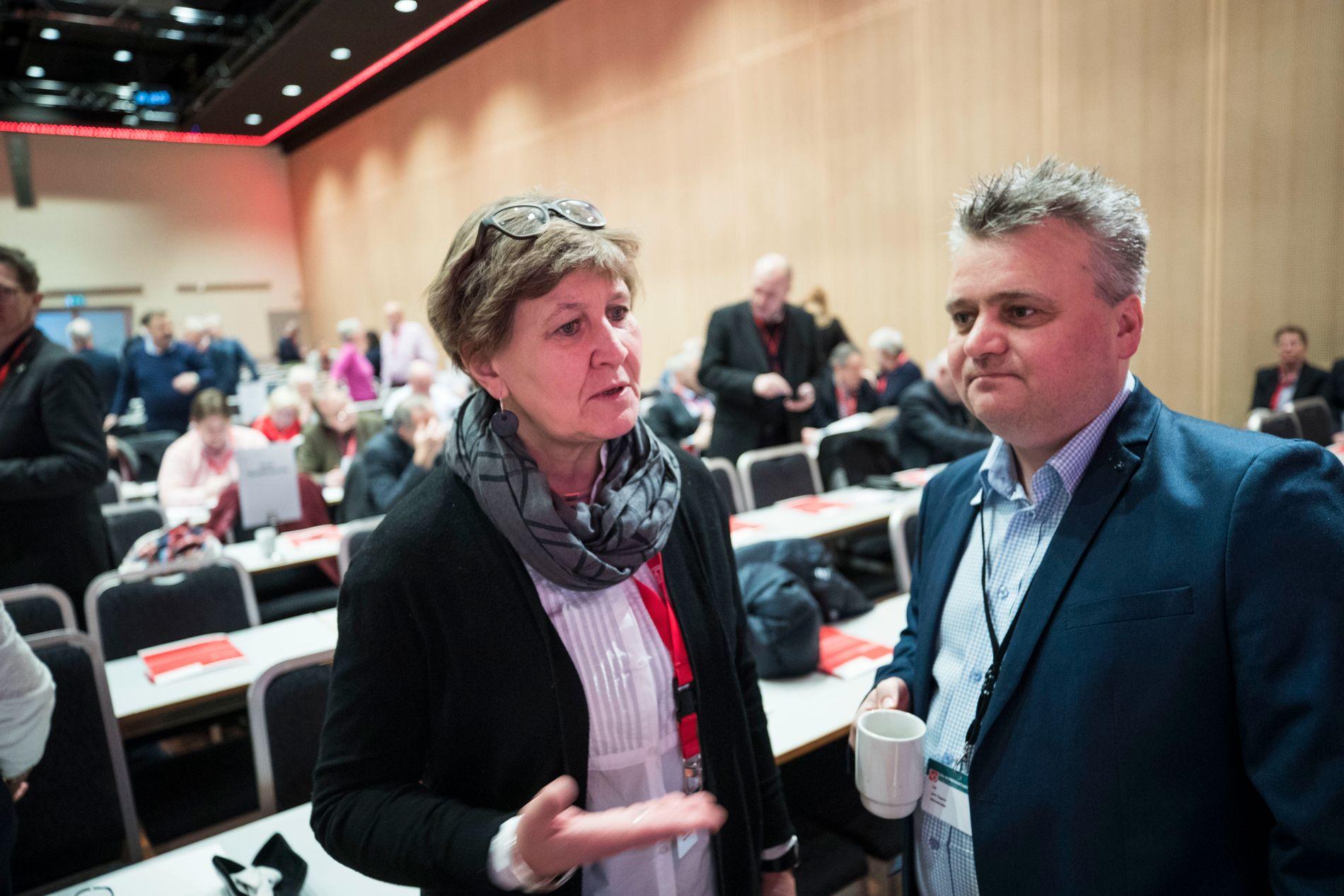 LØNNSKAMP: Fellesforbund-leder Jørn Eggum og Fagforbund-leder Mette Nord har aldri kranglet så heftig offentlig, som de gjør i dag.