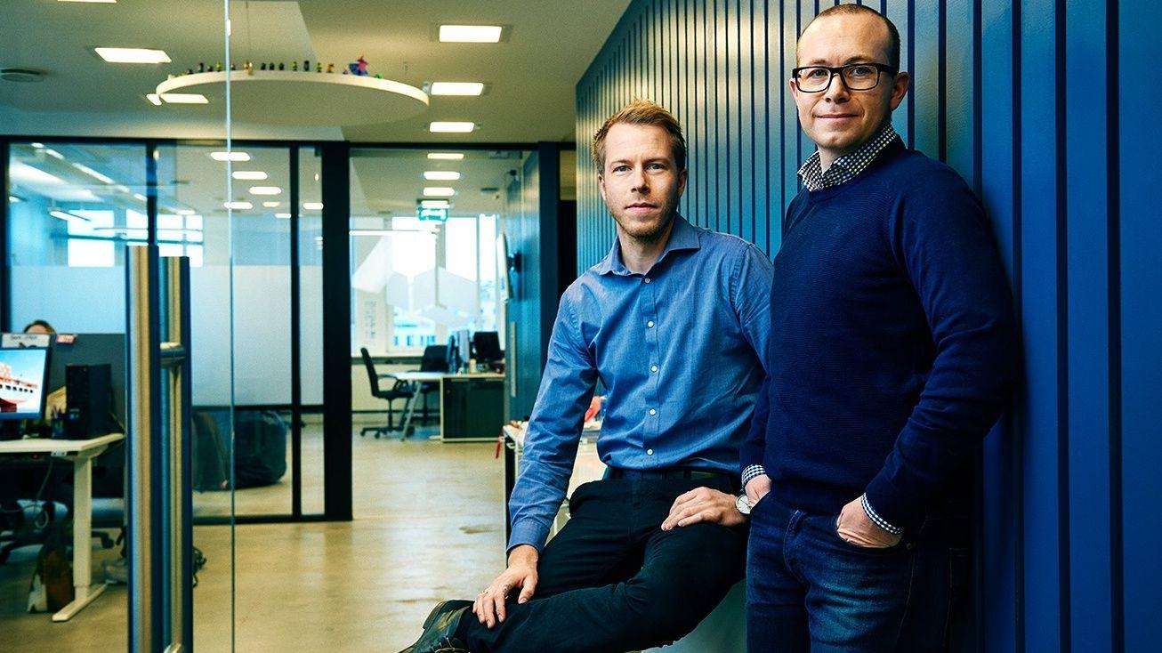 FOKUSERER PÅ VEKST: Grunnleggerne av Xeneta, Patrik Berglund (t.v.) og Thomas Sørbø, hadde mange år bak seg i shippingbransjen før de sammen startet Xeneta.