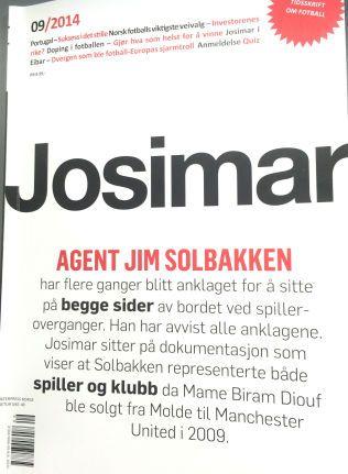 FOTBALLBLAD: Det er i siste utgave av fotballbladet Josimar påstandene om Jim Solbakken kommer.