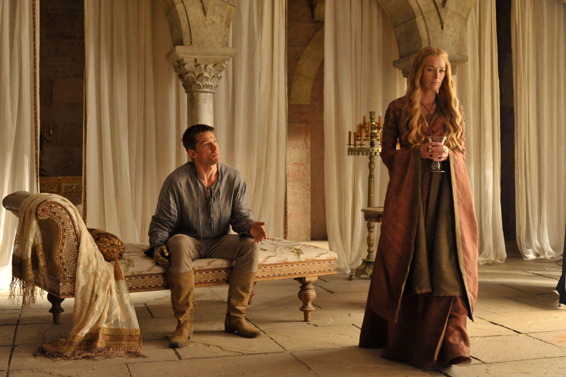 SØSKEN: Jamie (Nikolaj Coster-Waldau) og Cersei Lannister (Lena Headey) i sesong 4.