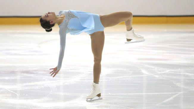 IMPONERER: Anne Line Gjersem fra Asker Skøyteklubb er videre til friløpet i VM i kunstløp i Shanghai. Her er hun fotografert under NM i januar.