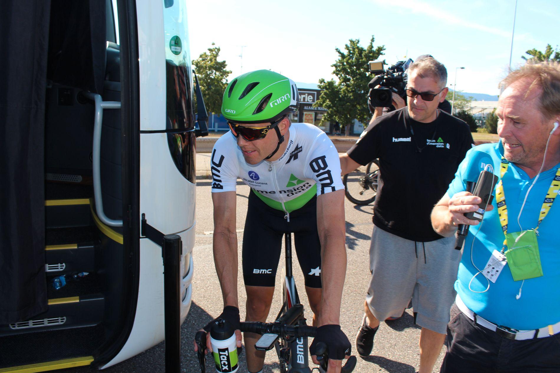 SLAPP: Edvald Boasson Hagen var lenge med i bruddet på dagens etappe i Tour de France, men måtte slippe. Her fra en tidligere etappe i år.