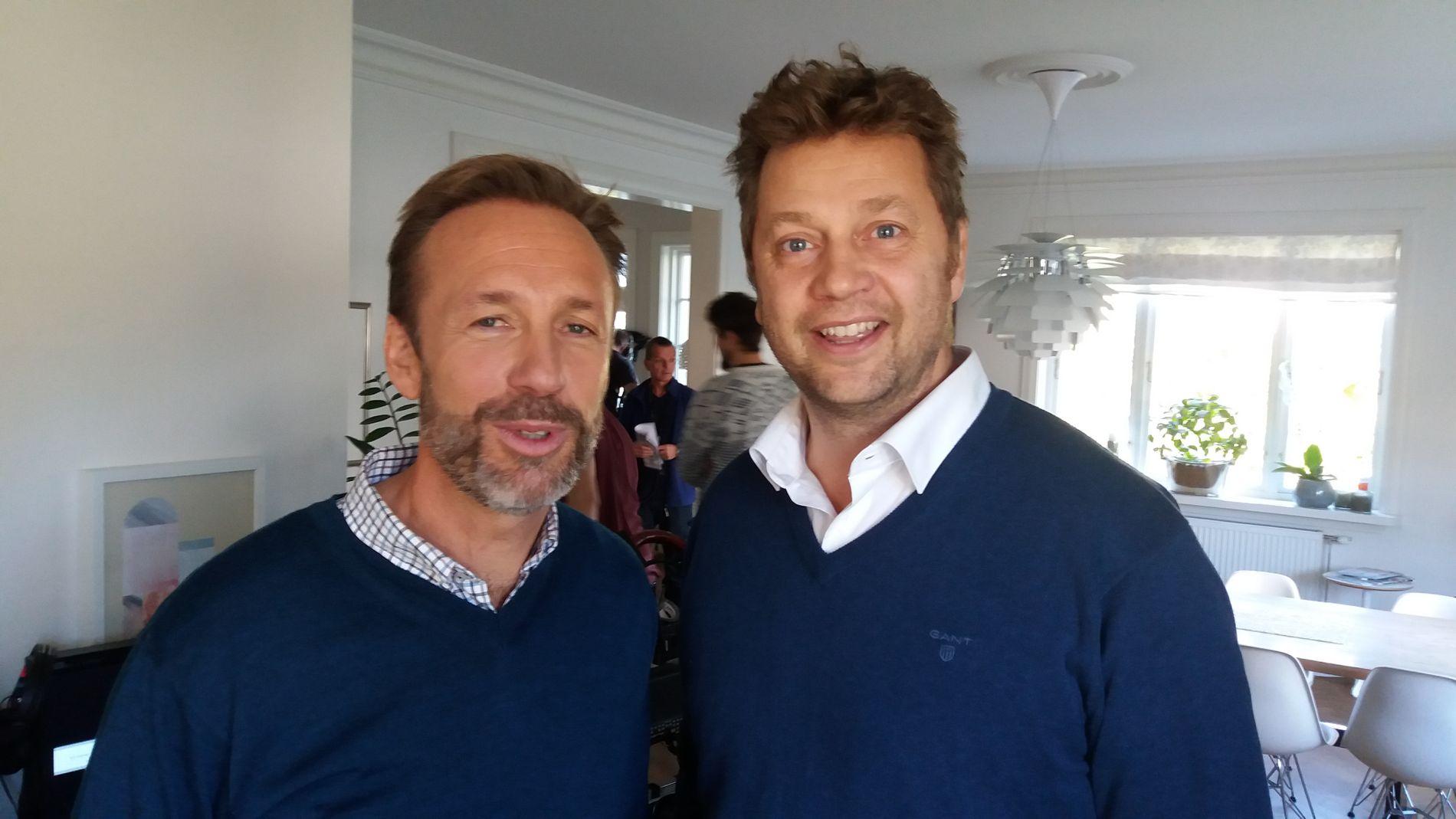 HELT PERFEKT: Thomas Giertsen synes at Johan Peterson er «helt perfekt» i hans rolle i den svenske versjonen av «Helt perfekt»