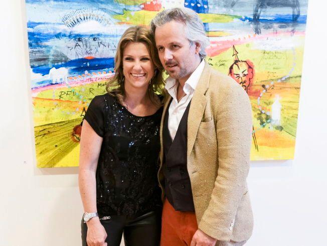 """GODT GIFT: Ari Behn og prinsesse Märtha Louise på kunstutstillingen """"Crossover""""på Drammen Museum i fjor. Behn var en av fire kunstnere som stilte ut bilder."""