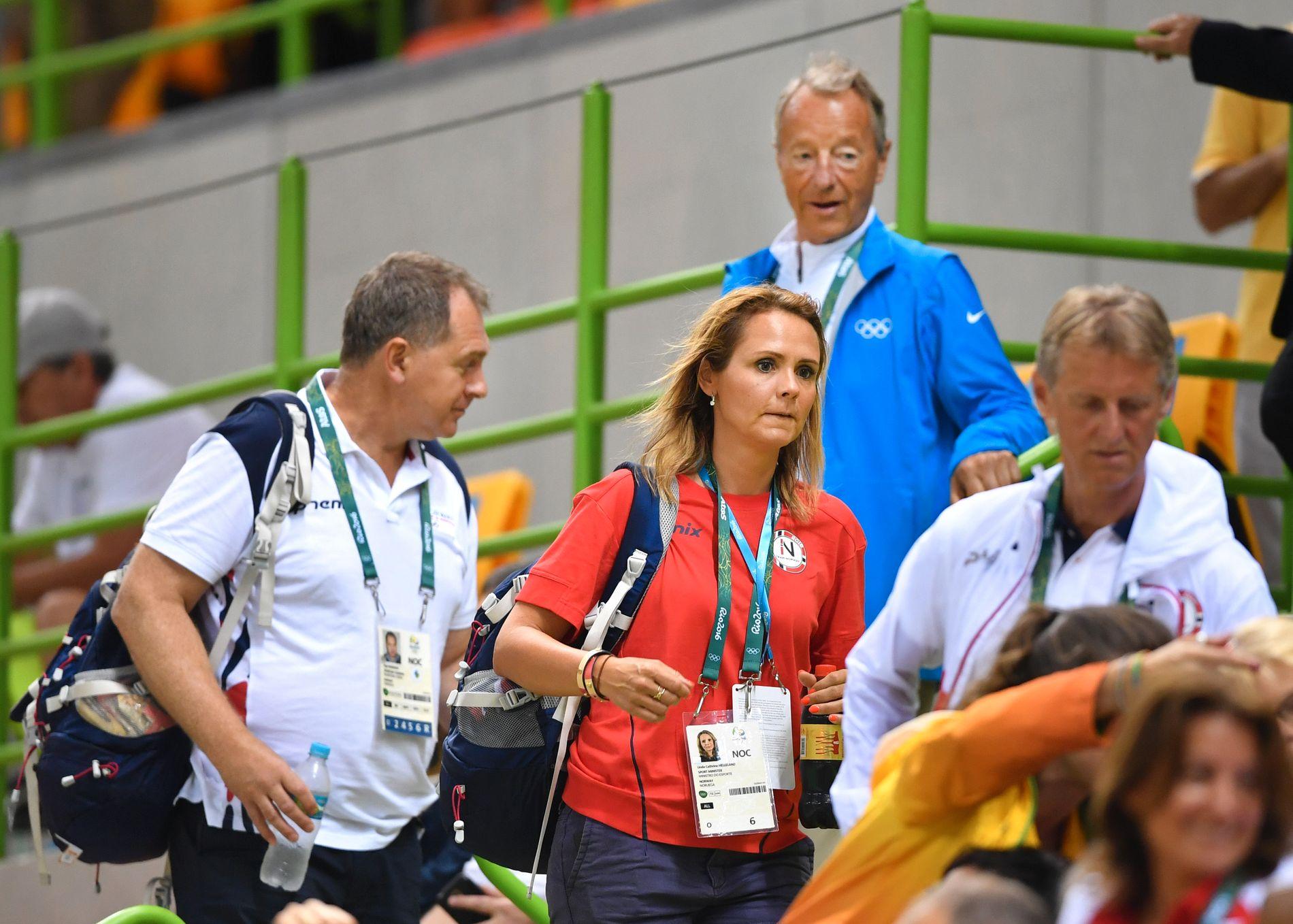 NY WADA-TOPP: Linda Hofstad Helleland, her under en håndballkamp under Rio-OL, er valg til ny visepresident i WADA. Det skjedde på en konferanse i Glasgow søndag morgen.