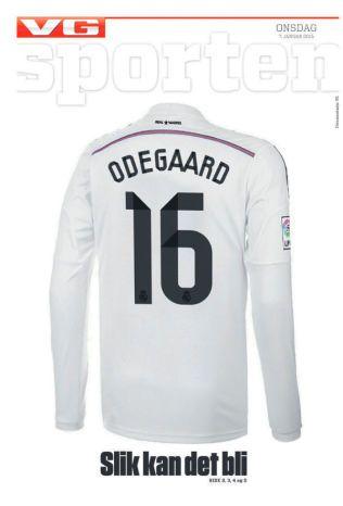 SLIK KAN DET BLI: Martin Ødegaard skal ha blitt tilbudt drakt nummer 16 i Real Madrid.