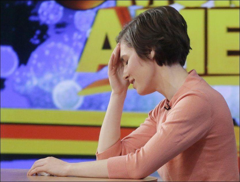 FORTVILER: En gråtende Amanda Knox (26) snakket fredag ut om drapsdommen på ABC «Good Morning America». Foto: AP