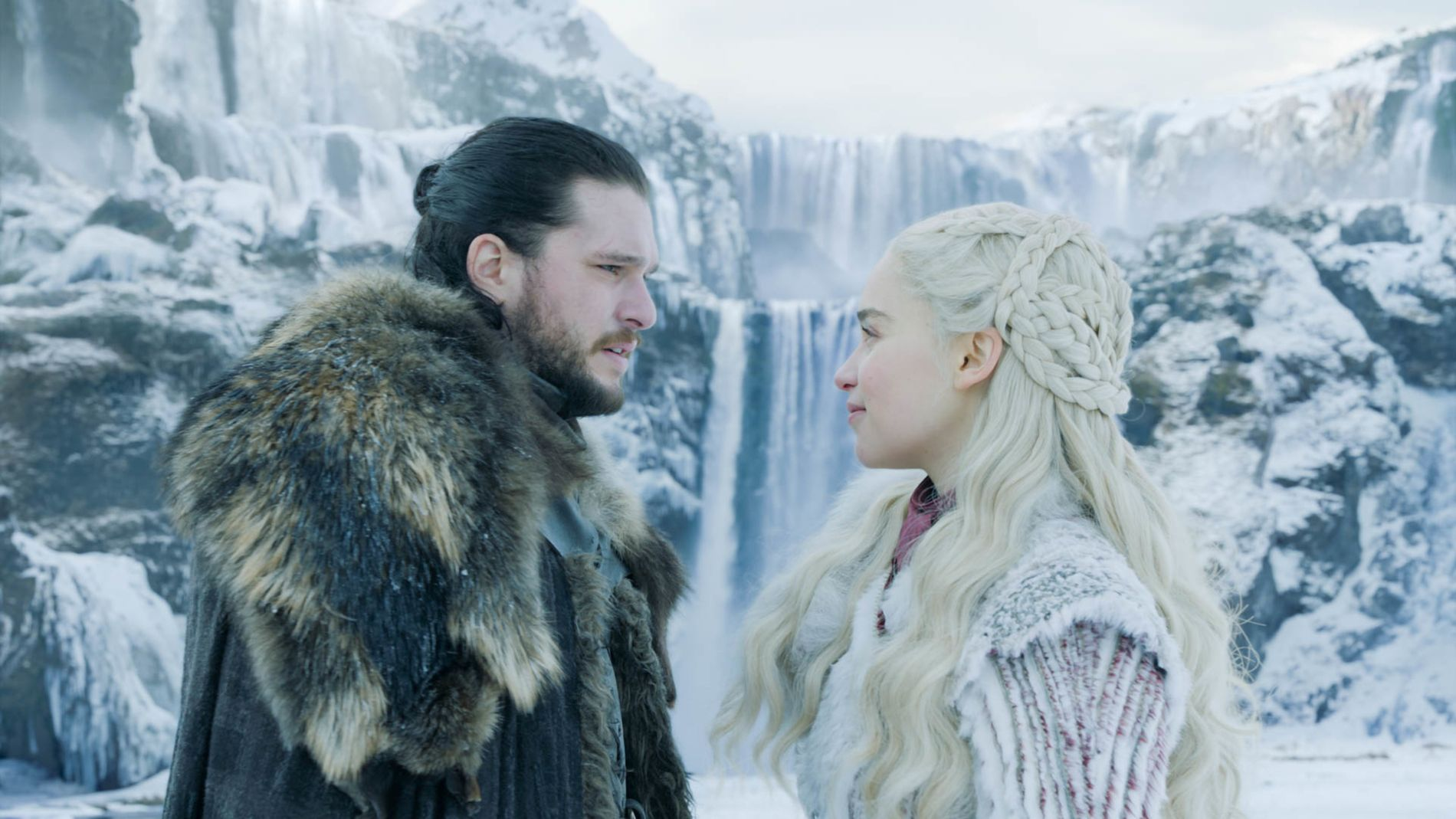 FAMILIEPAR: Jon Snow og Daenerys Targaryen i første episode av sesong 8.