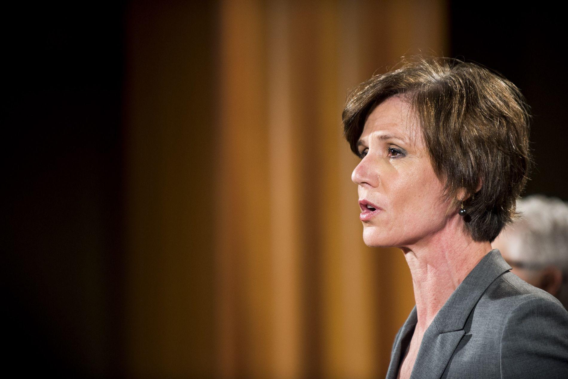 FIKK FYKEN: Sally Q. Yates ble utnevnt av Obama-administrasjonen, og var USAs fungerende justisminister.