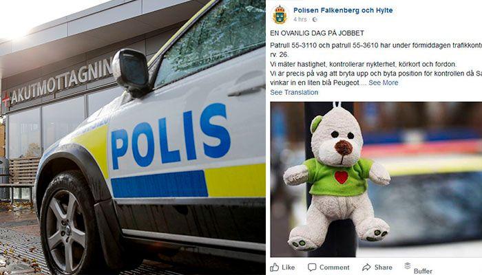 TOK KONTROLL: Politiet syntes det gikk for tregt da mannen kjørte, og tok selv over rattet.