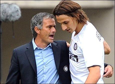 STERKE BÅND: Zlatan Ibrahimovic skryter voldsomt av sin tidligere trener Jose Mourinho. Foto: AP