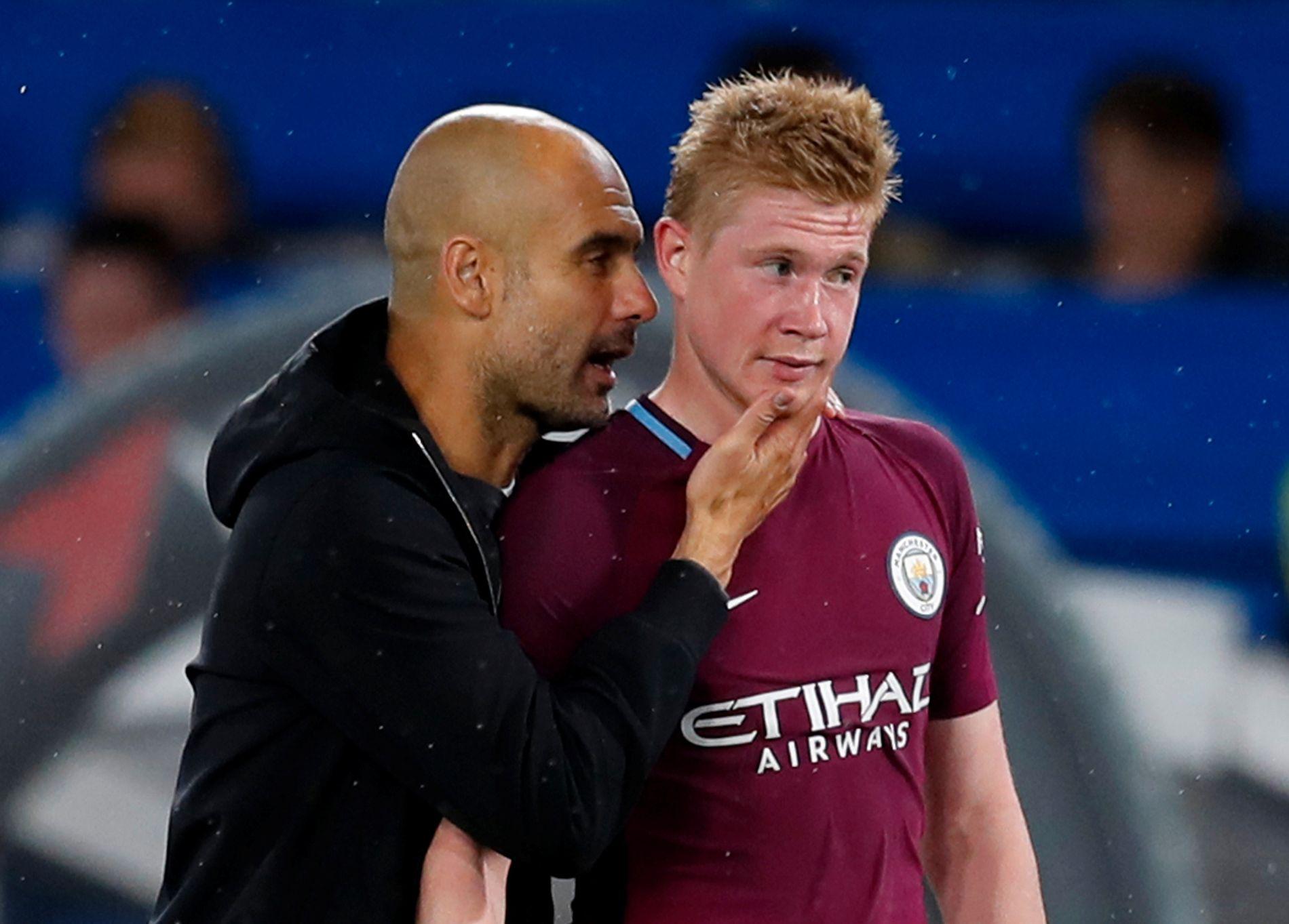 SKADET: Pep Guardiola og Manchester City må trolig klare seg uten Kevin De Bruyne fremover.