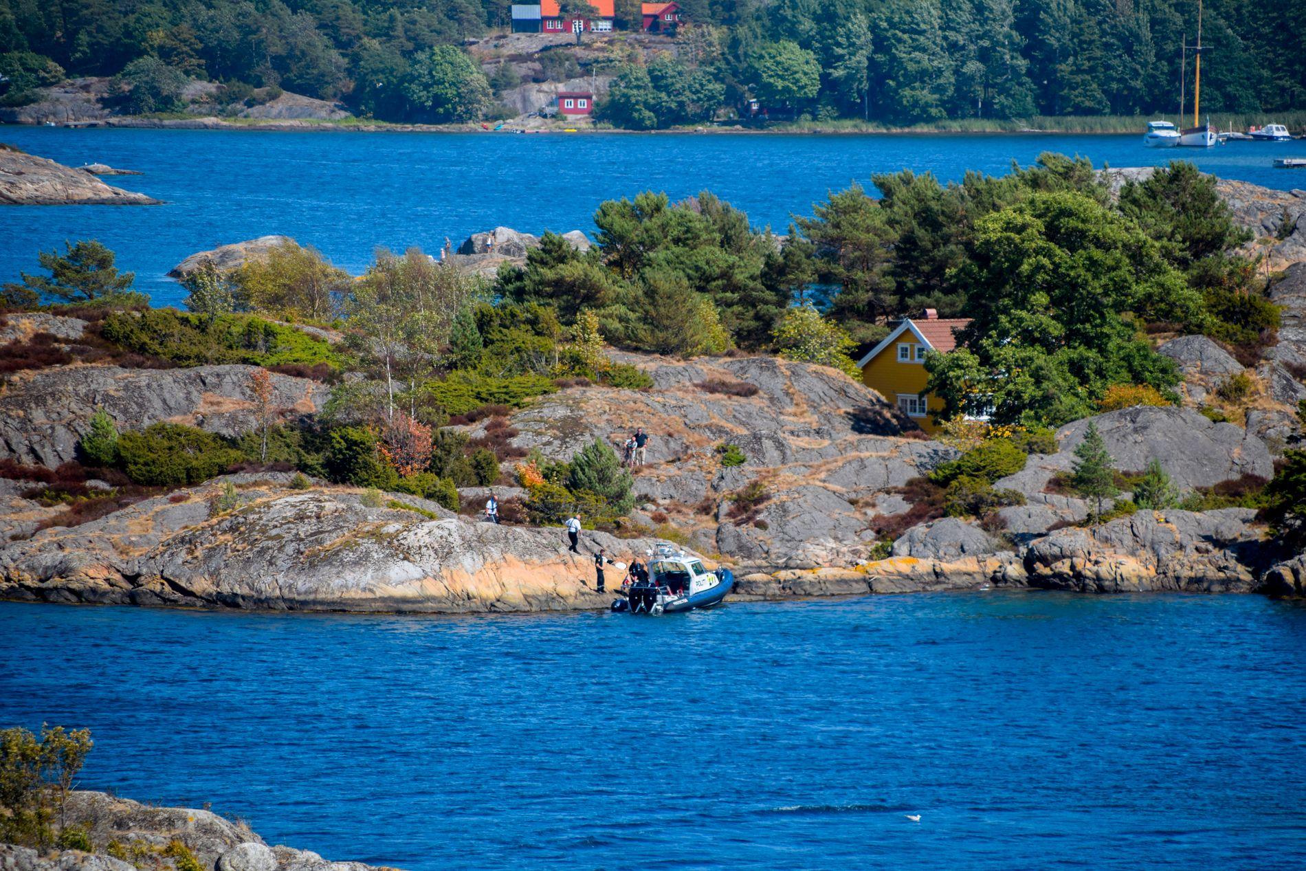 ULYKKESSTEDET: Her på øya St. Helena i Hovekilen ved Arendal ble Vibeke Skofterud funnet.