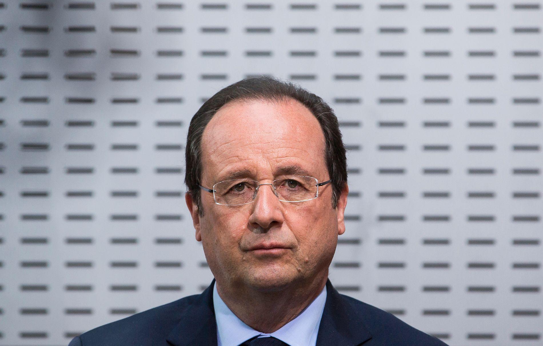 MYE Å TENKE PÅ: Den franske presidenten Francois Hollande har slitt lenge på meningsmålingene. Nå ser han ut til å ha nådd bunnen. FOTO: REUTERS/Ian Langsdon