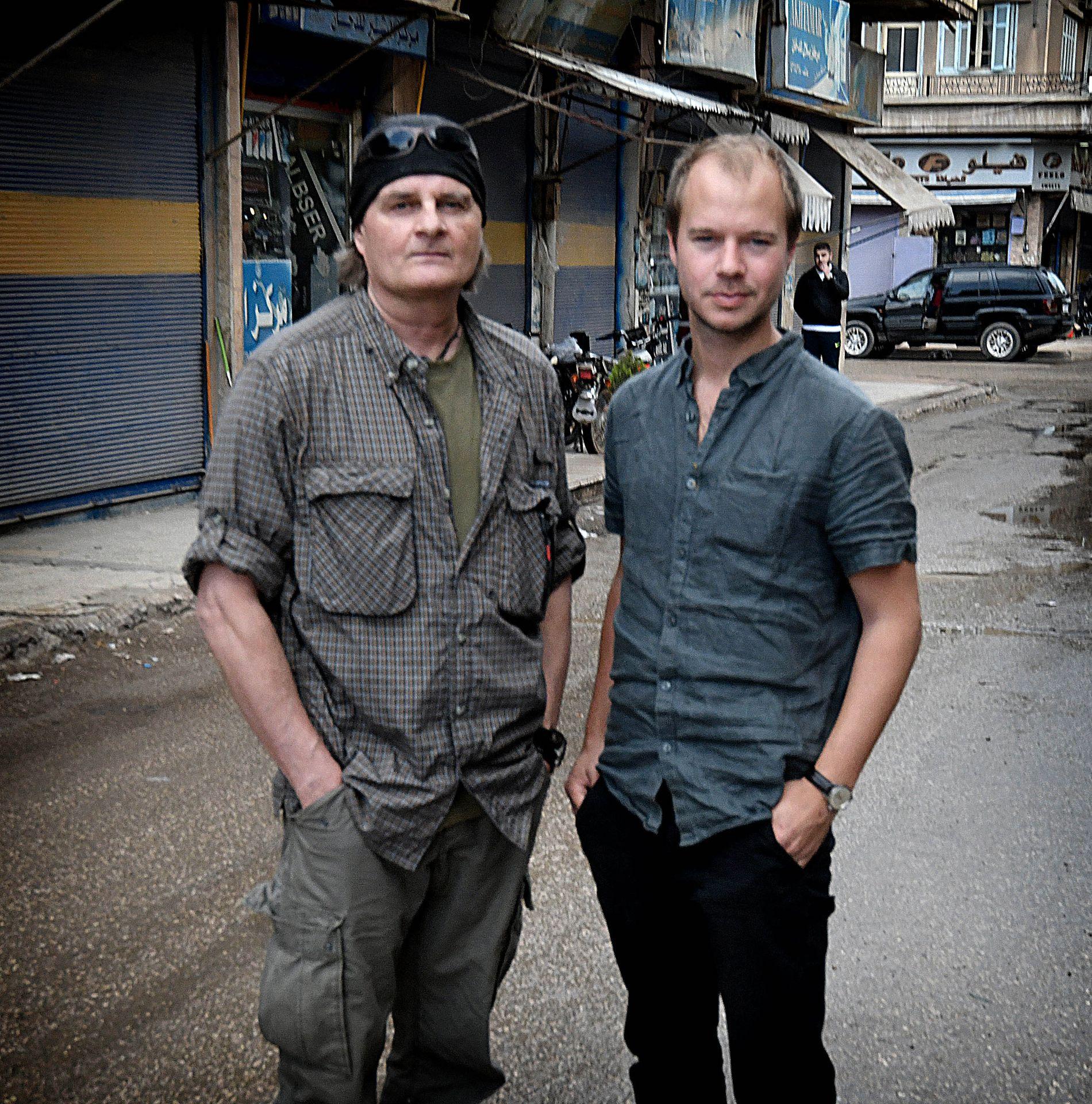 VG I SYRIA: Harald Henden og Amund Bakke Foss