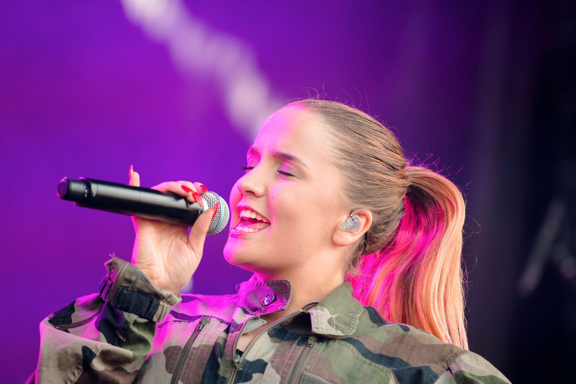 PÅ VG-LISTA: Fanny Andersen sto på scenen i Trondheim under fjorårets VG-lista-turné.