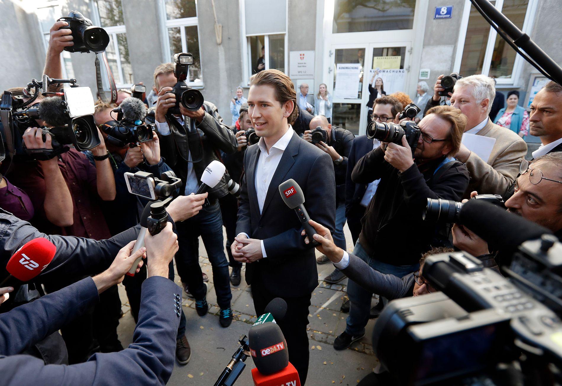 VALGVINNER: Sebastian Kurz (31) og det konservative partiet ÖVP vant søndagens valg i Østerrike.