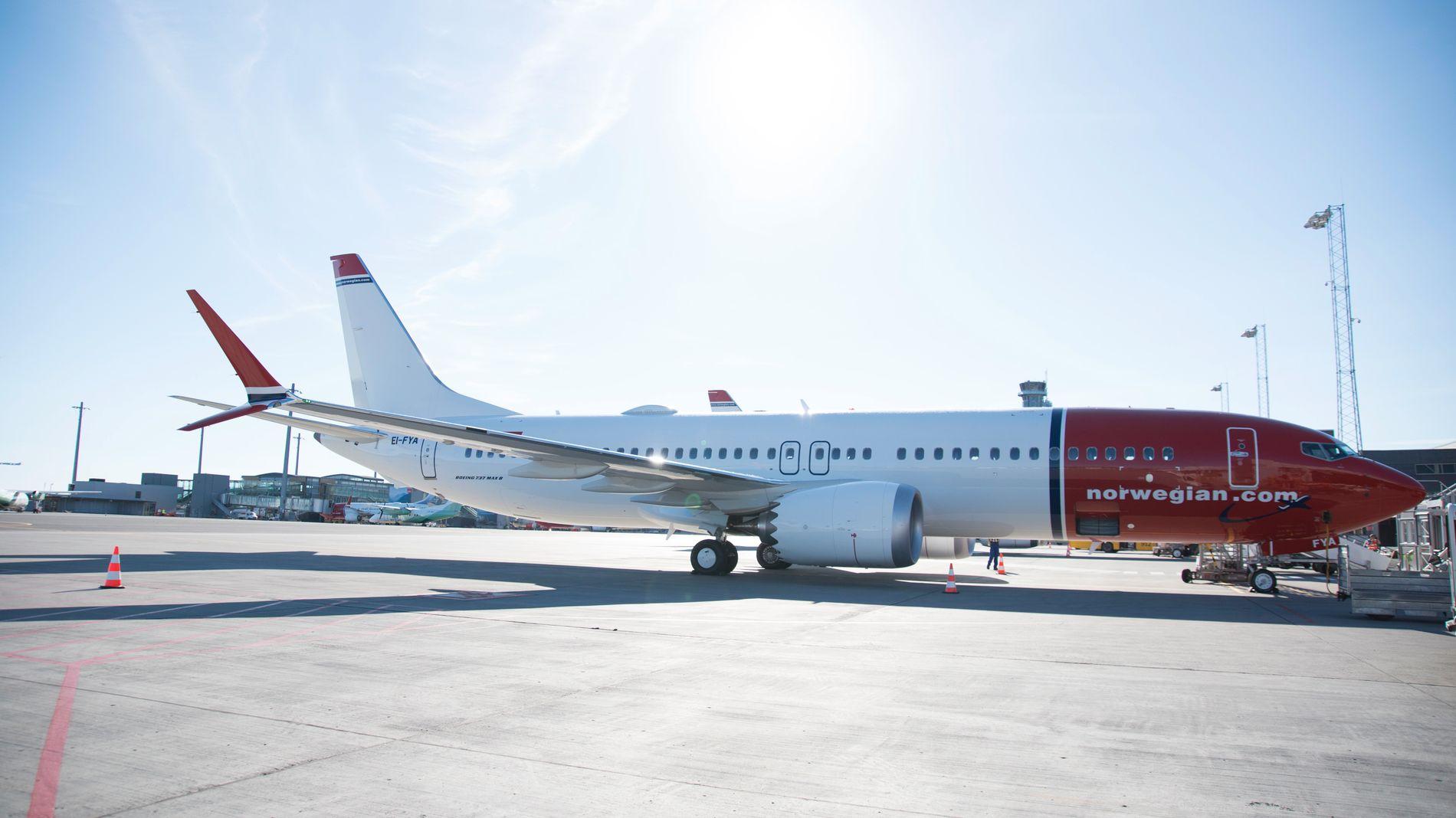 FORTSATT PÅ BAKKEN: Norwegian har i sommer leid inn 15 ekstrafly for å dekke inn for de 18 Boeing 737Max-flyene til selskapet som står på bakken.