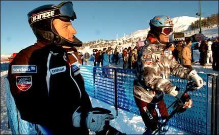 VRAKET: Tom Stiansen (t.v.) og Hans Petter Buraas får ikke være med til VM i Bormio. Foto: Bjørn S. Delebekk
