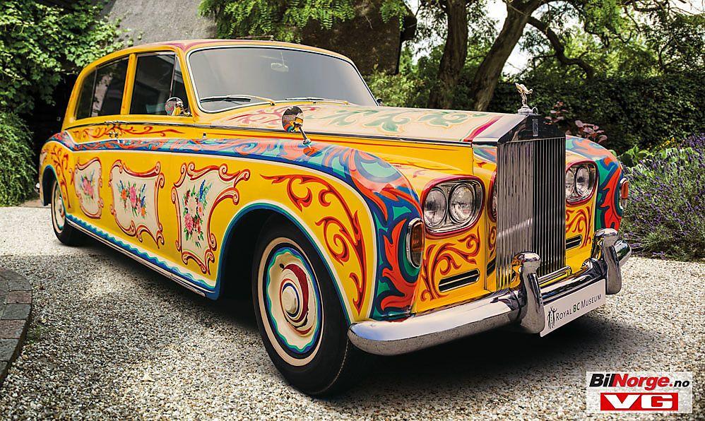 PSYKEDELISK: Denne fargerike Rolls-Roycen kjøpte John Lennon i Beatles glansperiode. Foto: Rolls-Royce Motor Cars