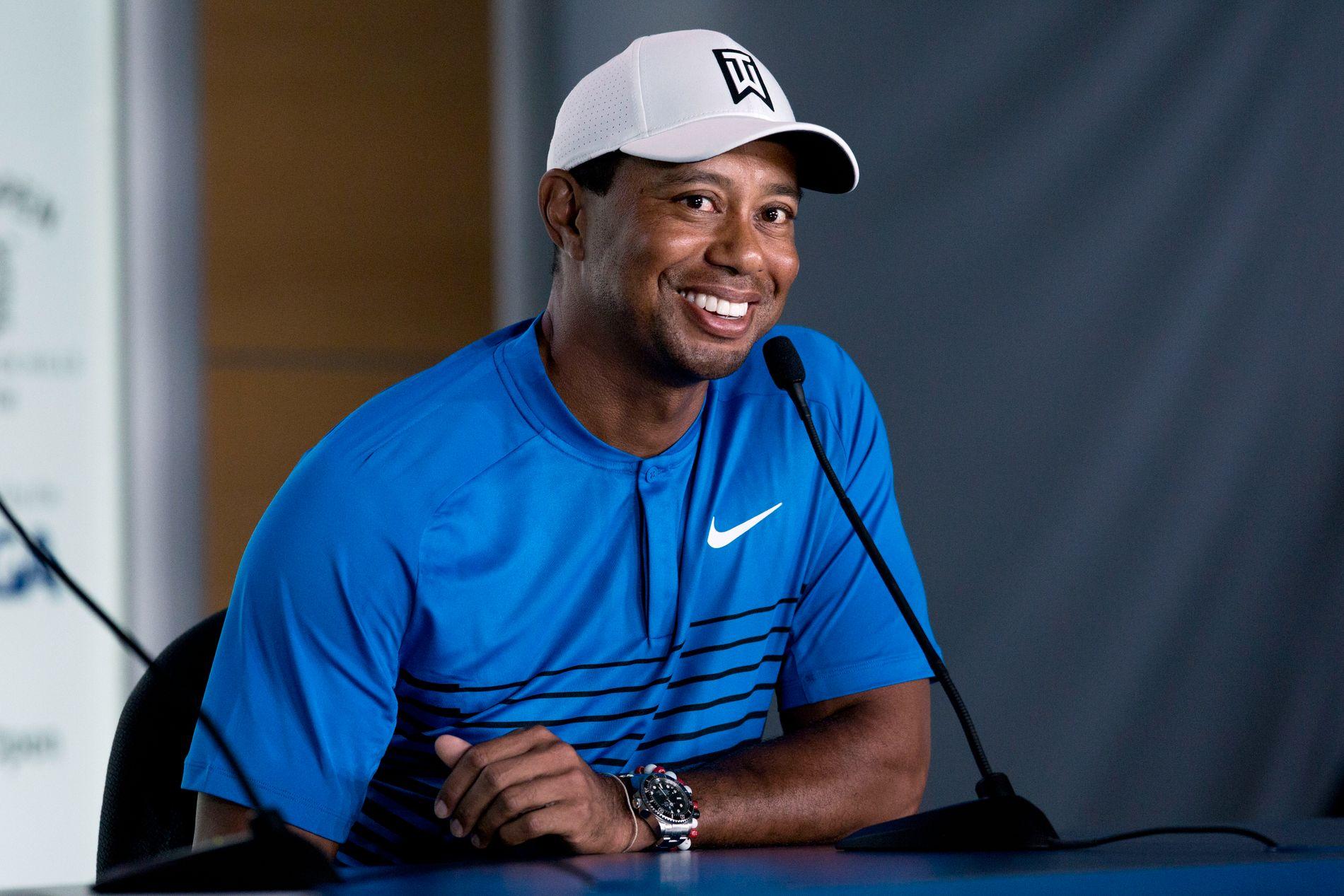 PRESSEKONFERANSE: Tiger Woods er klar for sin 20. U.S. Open i golf.