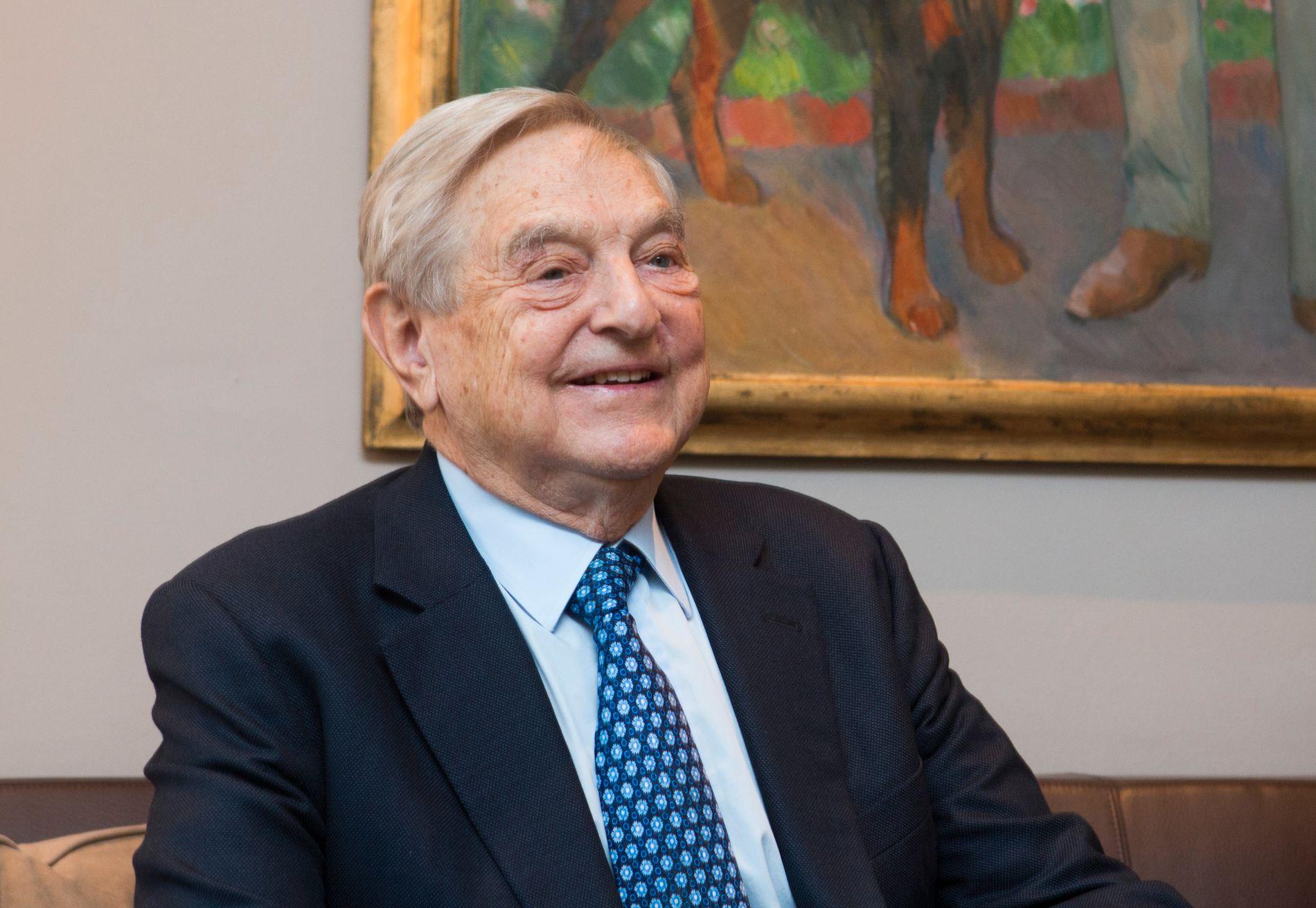 OSLO-BESØK: Den amerikanske finansmannen og filantropen George Soros var i Norge i 2013.