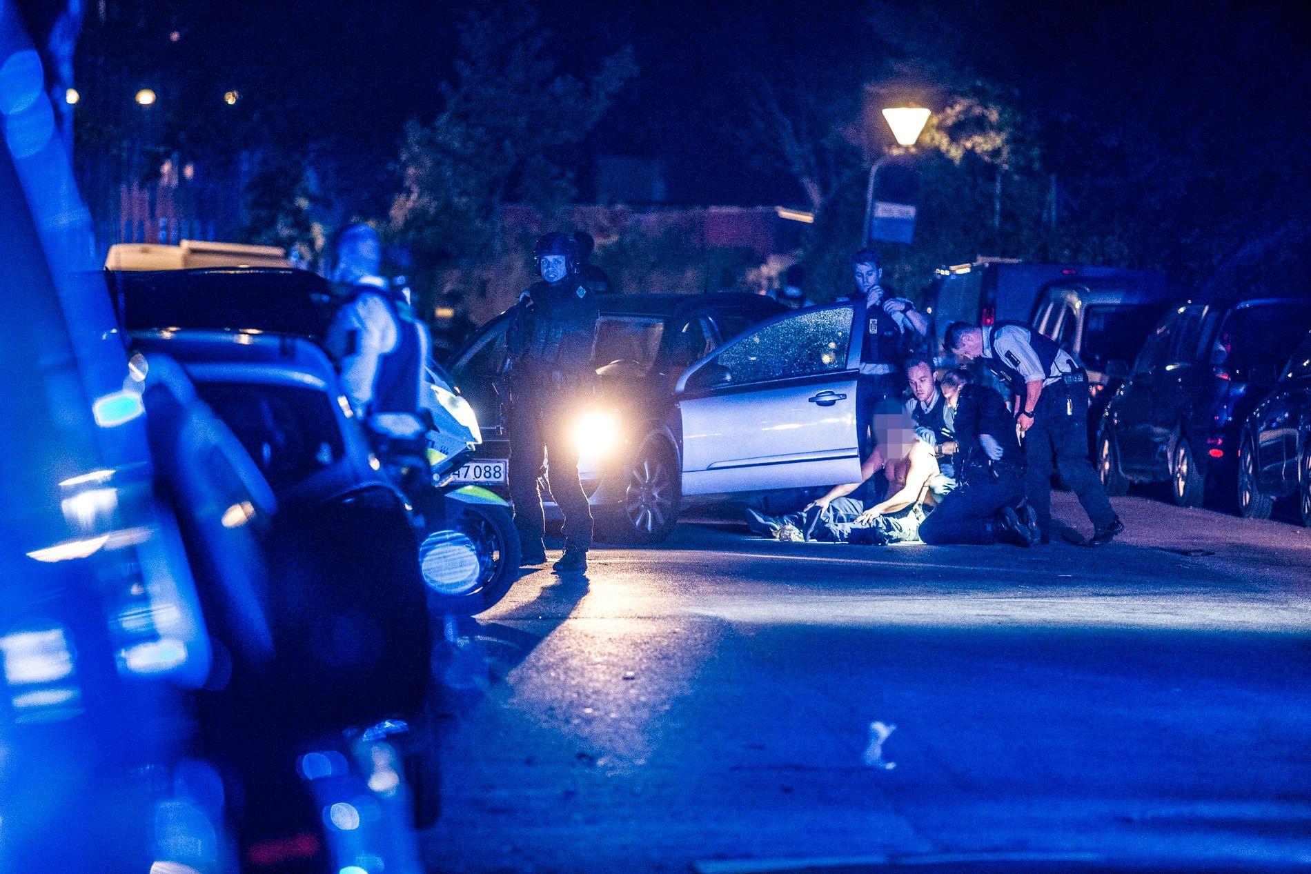 SKYTEEPISODE:  Like etter klokken 21:00 ble det avfyrt skudd i Guldbergsgade på Nørrebro.