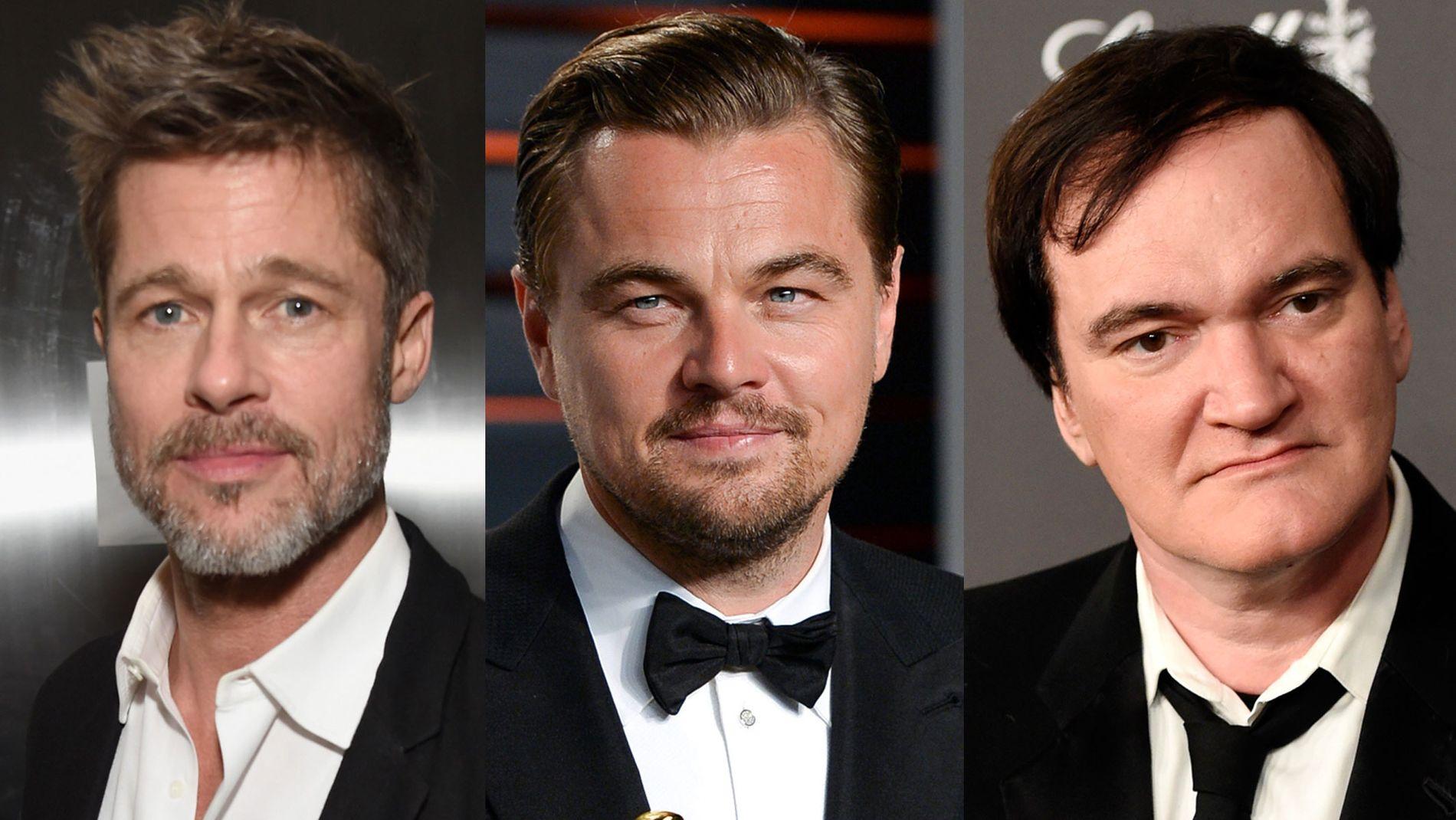 STJERNETRIO: Brad Pitt, Leonardo DiCaprio og Quentin Tarantino.