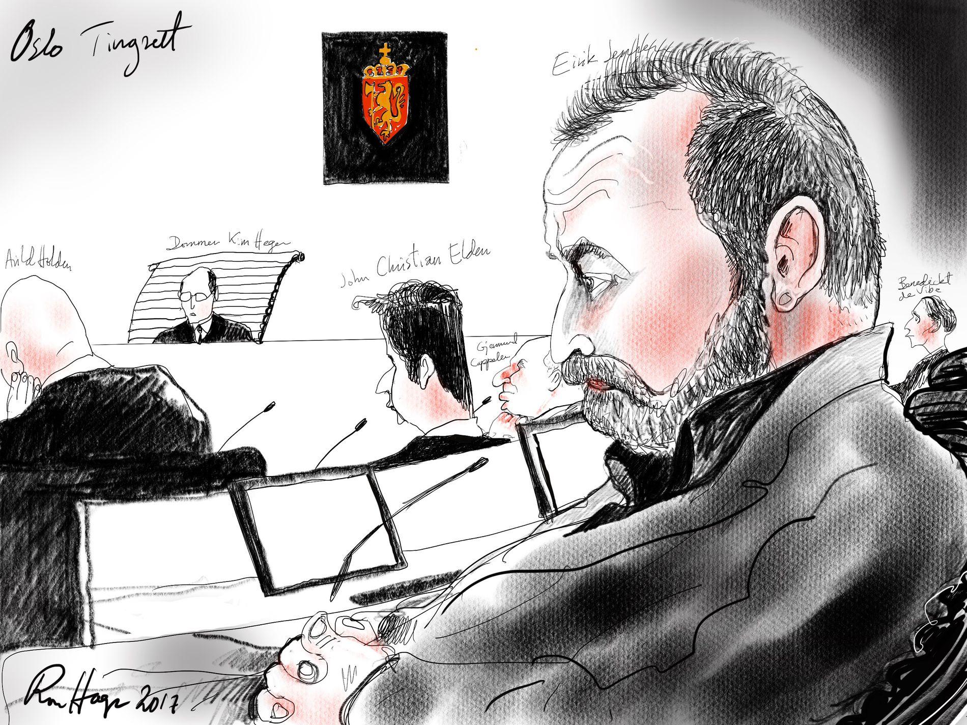 DØMT TIL 21 ÅR: Eirik Jensen ble i fjor idømt lovens strengeste straff i Oslo tingrett.
