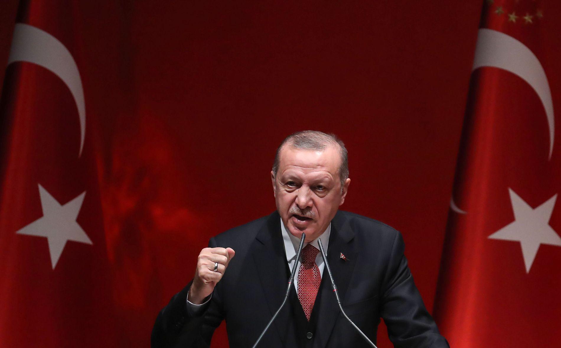 PRESIDENT:  Recep Tayyip Erdogan har vært Tyrkias president siden 2014, og er leder av Rettferdighets- og utviklingspartiet (AKP)