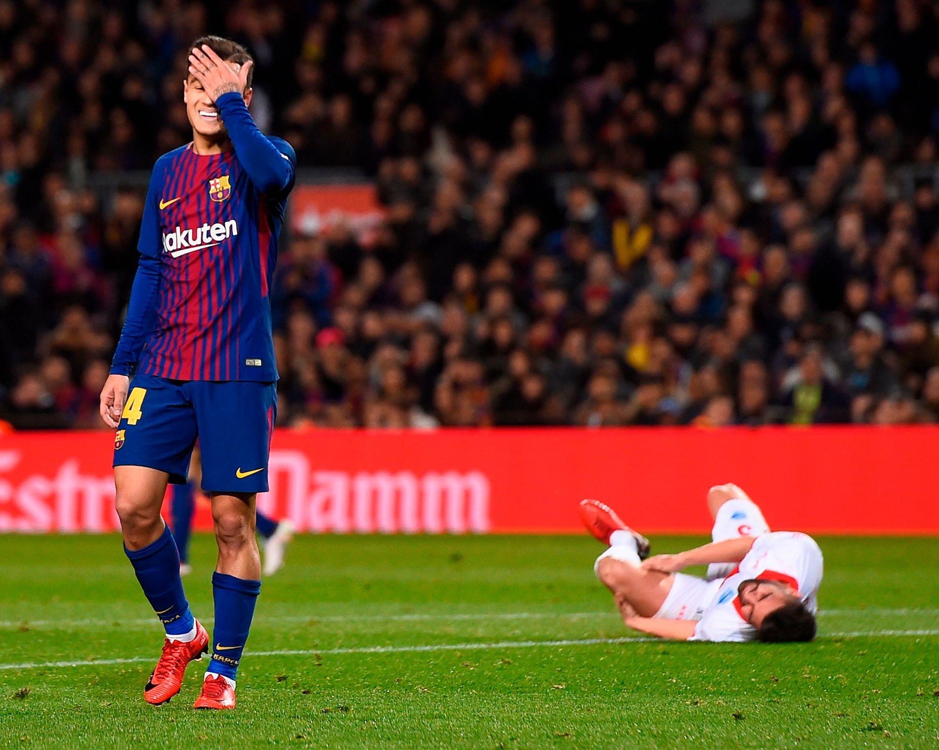 STANG UT: Philippe Coutinho viste seg ikke fra sin beste side i ligadebuten.